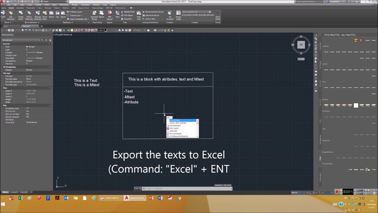 how to add text in autocad
