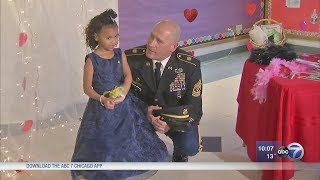 Illinois soldier steps in for girl's late father at daddy-daughter dance