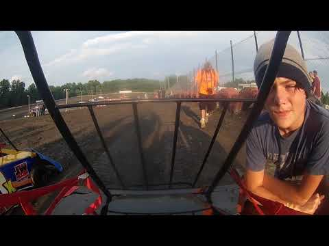 Casey Stillion racing at hilltop speedway