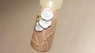Дизайн ногтей: Объемный цветок| Лепка гель-пластилином