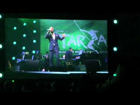D23 Expo 2015 Disney on Broadway Originals perform a Strangers Like Me from Tarzan the Musical