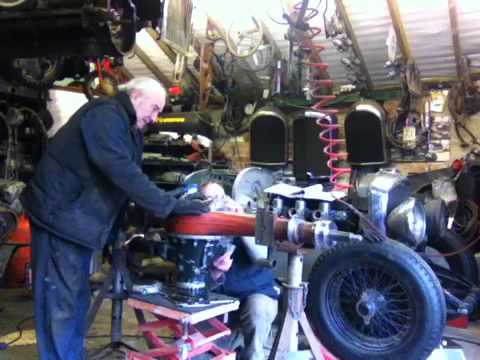Anthony Barrett and Ray Lockley building the 4 Litre back axle