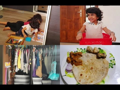 afternoon-to-dinner-vlog---kids-wardrobe-organization---dahi-chicken-recipe---yummy-tummy-vlog
