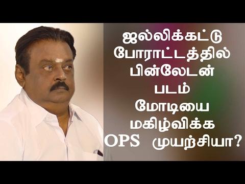 Jallikattu Protest -  பின்லேடன் படம் மோடியை மகிழ்விக்க OPS முயற்சியா ? Vijayakanth  -~-~~-~~~-~~-~- Please watch: