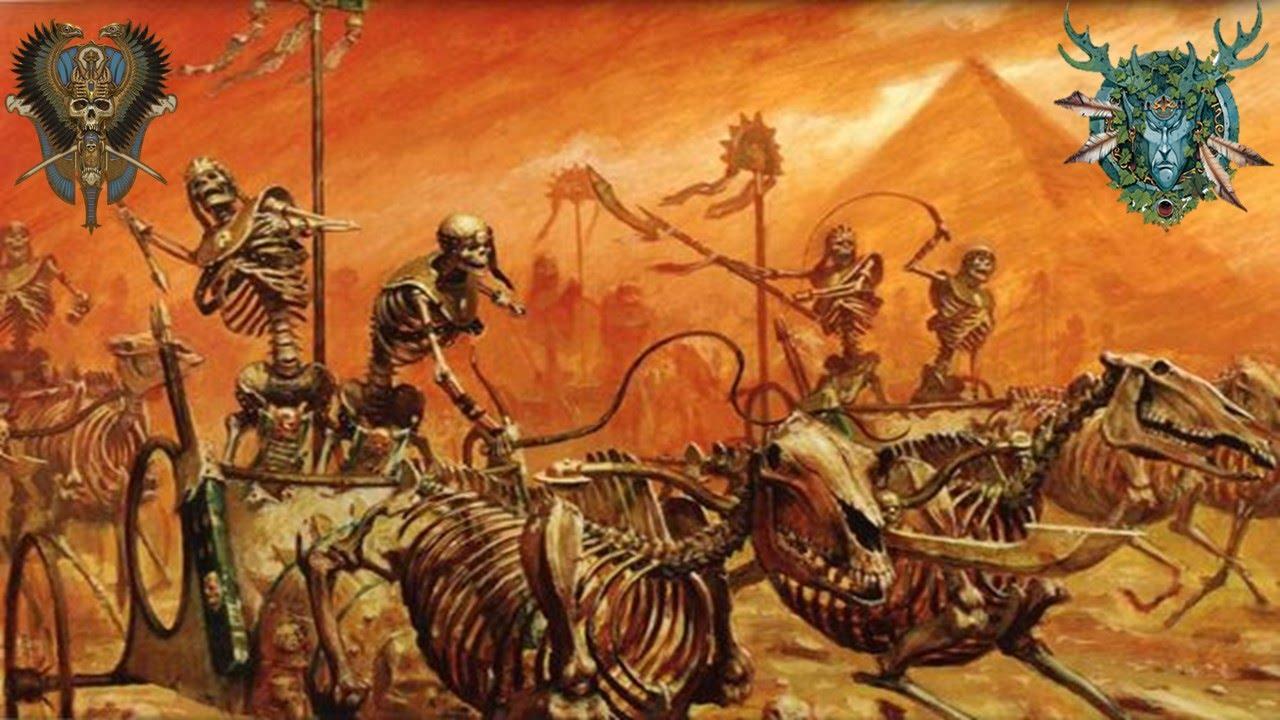 Total War Warhammer Wallpaper Hd Tomb Kings Vs Wood Elves Call Of Warhammer Botet