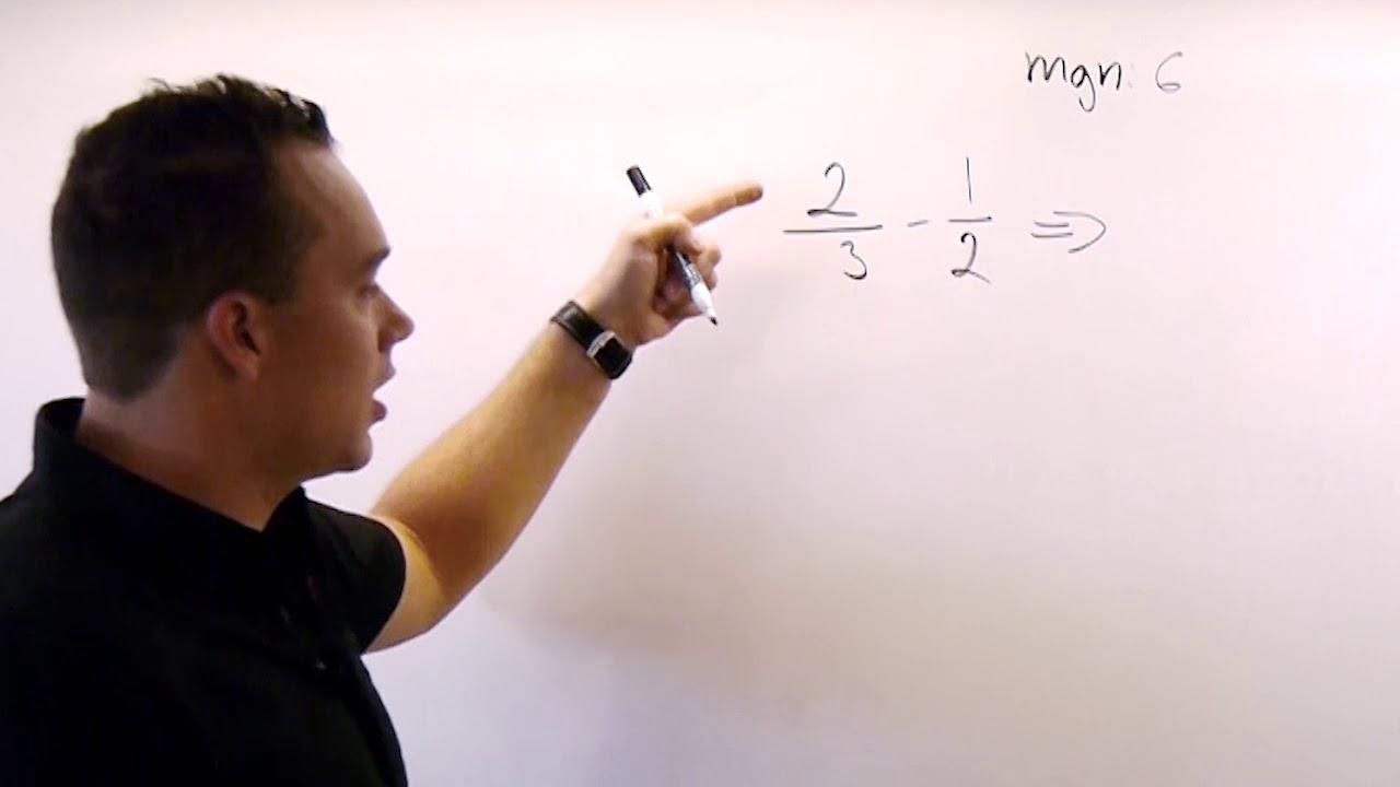 Bråk 10. Subtraktion av bråk!  Matematik åk 7. Kap 2, avsnitt 10.