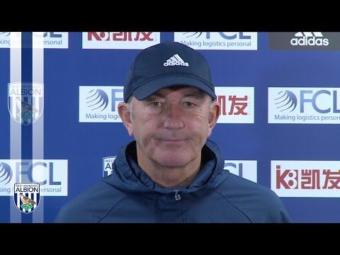 Tony Pulis addresses the media ahead of City trip