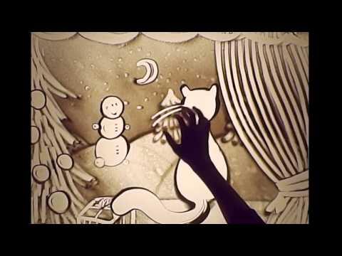 Новогодняя сказка 2014 от студии рисования песком SandLand. Художница Илларионова Юлия.