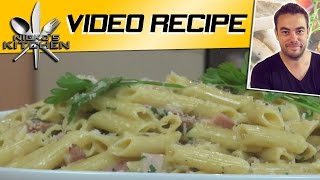 Bacon Carbonara (15 minute Meal) - Nicko's Kitchen