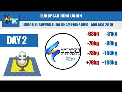 Junior European Judo Championships - Malaga 2016 - Day 2