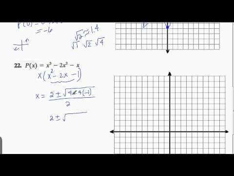 Graph Cubic Polynomial Function By Finding Intercepts and
