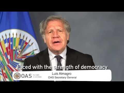 Mensaje del presidente de la ONU Luis Almagro para Venezuela.