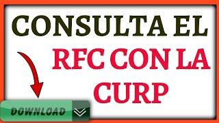 SACA TU  RFC EN 1 MINUTO CON LA CURP 2020