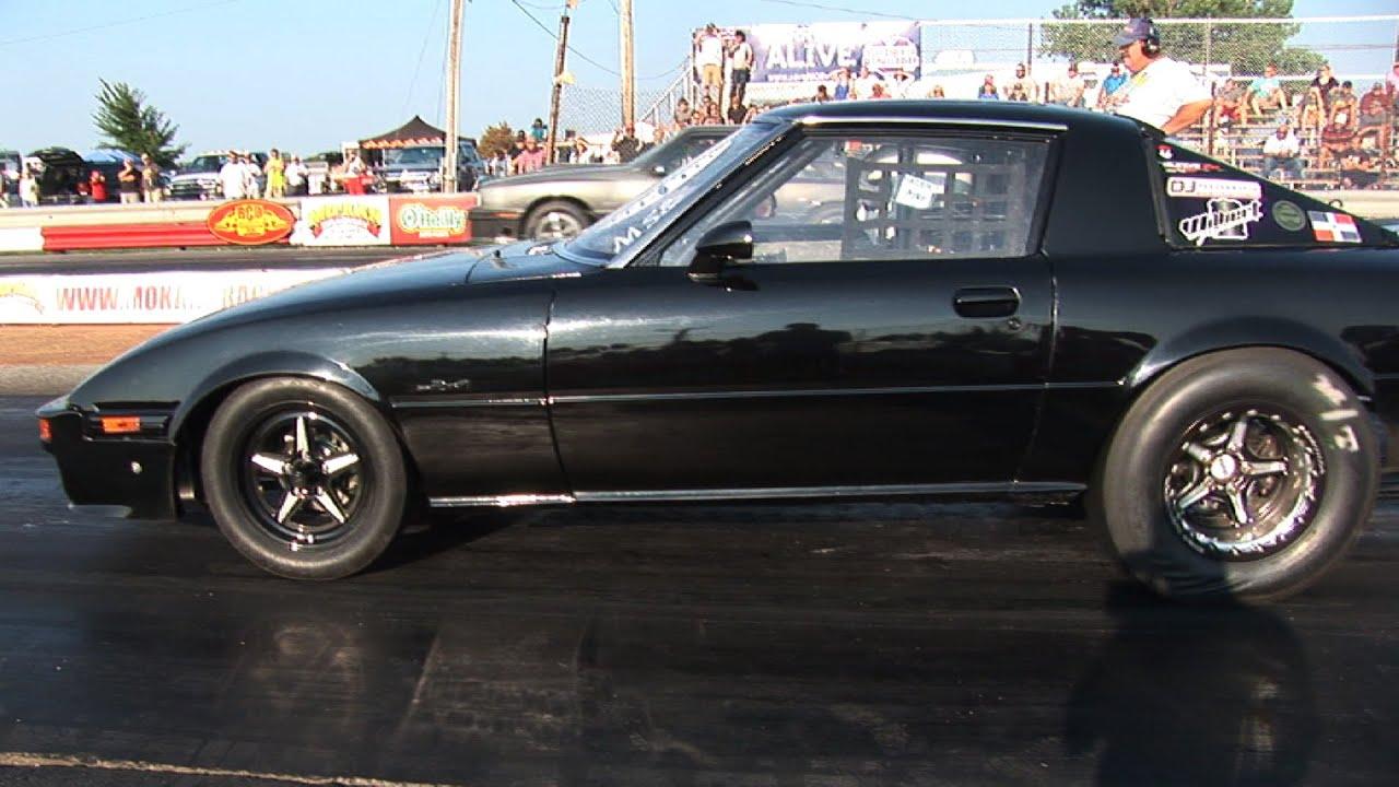 Turbo Rotary Mazda Rx7 Vs Turbo And Nitrous V8s Youtube
