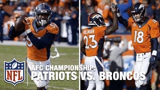Von Miller's INT Sets Up Peyton Manning's 2nd TD Pass!   Patriots vs. Broncos   NFL