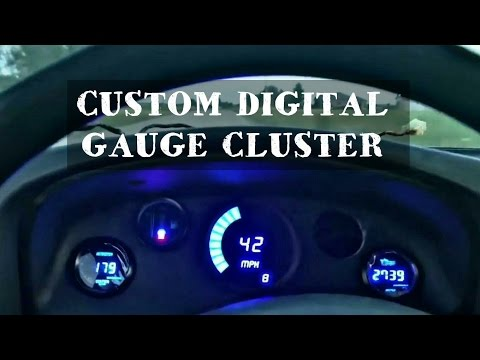 HOW TO Build CUSTOM DIGITAL GAUGE PODS - V8 SWAPPED NISSAN HARDBODY