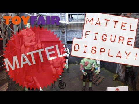 WWE FIGURE INSIDER: New York Toy Fair 2016 MATTEL FIGURE DISPLAY!