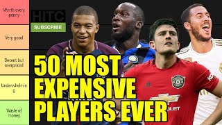 TIER LIST: 50 Most Expensive Players Ever Ranked