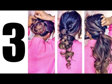 3 LAZY GIRL'S ELEGANT HAIRSTYLES (2018)