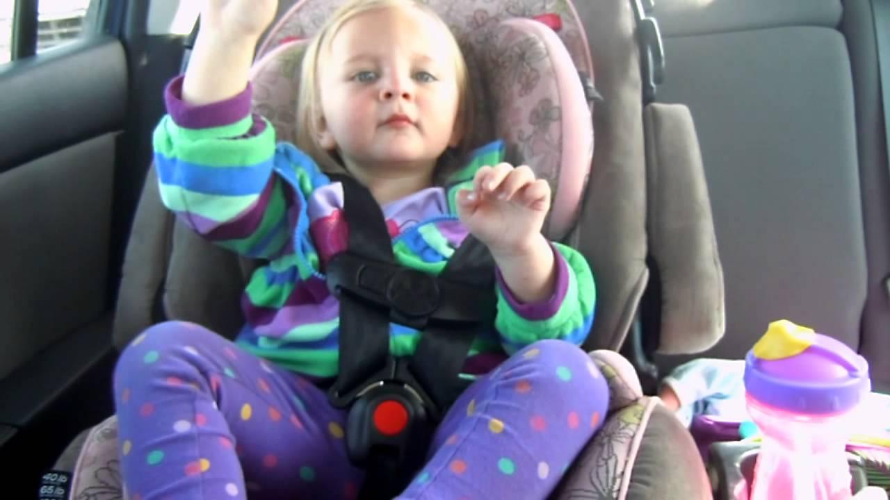 Rack City Baby Dancing in Car Seat - YouTube