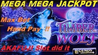 ★MEGA MEGA JACKPOT ! ★☆Timber Wolf Deluxe Slot machine ☆HAND PAY (MAX BET $2.50)