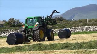drawing in the bales
