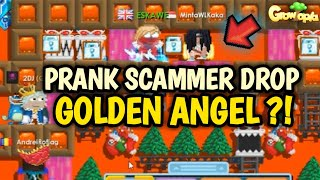 PRANK SCAMMER DROP GOLDEN ANGEL ?! SCAMMER PALING GOBLOK ?! GROWTOPIA INDONESIA