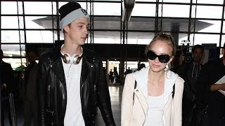 16-Year-Old Lilly-Rose Depp And Her 24-Year-Old Boyfriend Ash Stymes Asked About Marriage At LAX