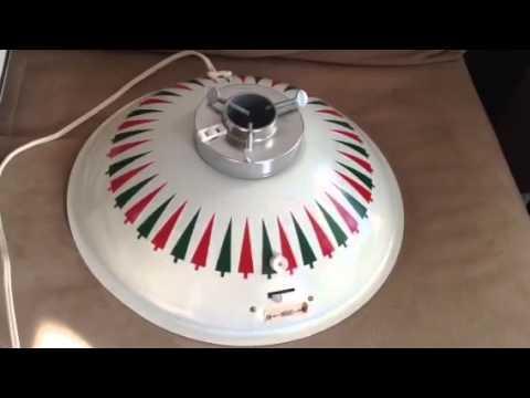 Vintage Revolving Rotating Christmas Tree Stand W/Music ...