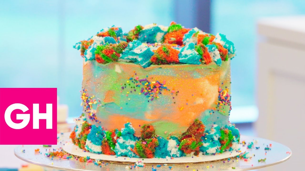 A Mega Colorful Holiday Cake By Baked By Melissa Gh Youtube