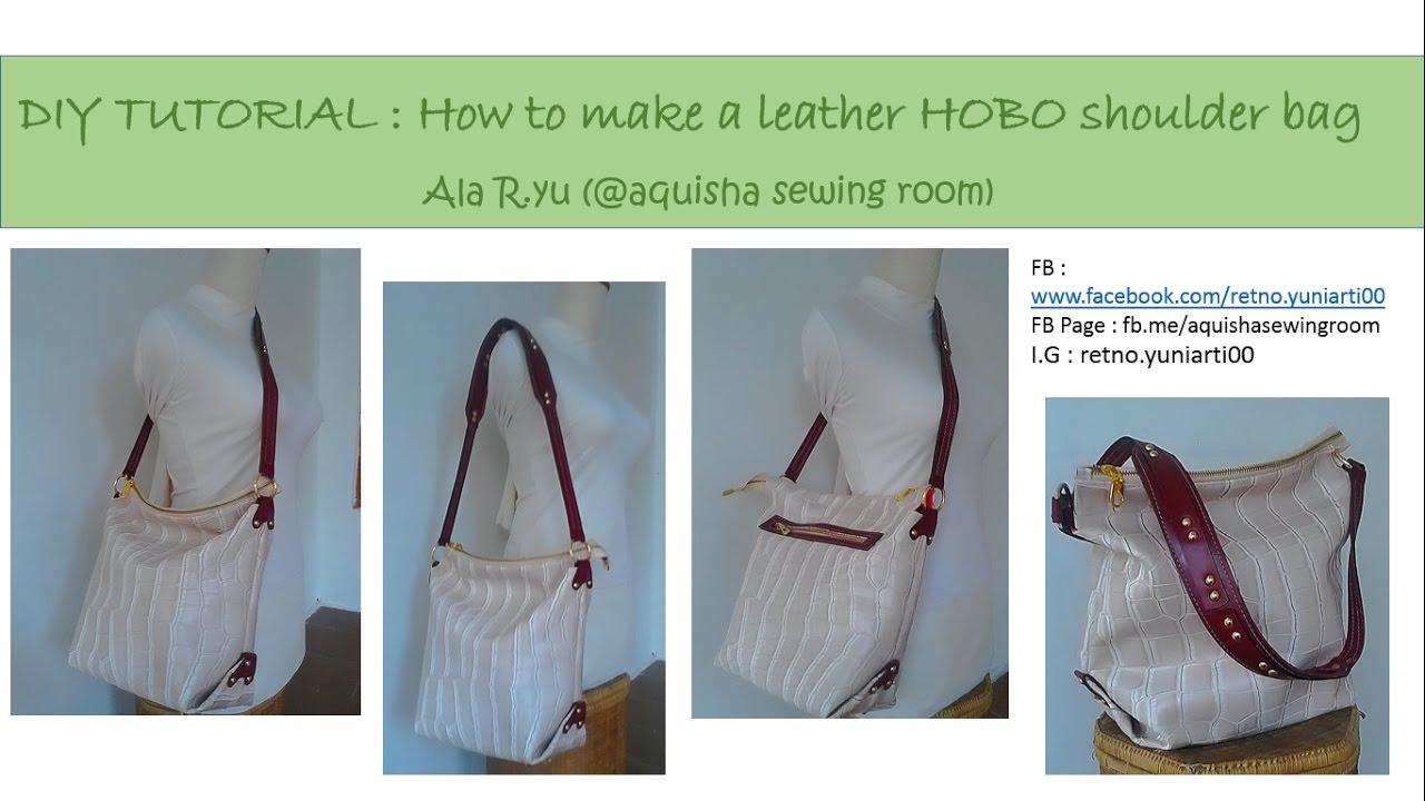 DIY   Sewing bag TUTORIAL   How to make a hobo shoulder and crossbody bag