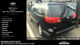 Used 2008 Toyota Sienna | Sunrise Auto Sales, Rosedale, NY