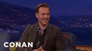 James Van Der Beek's 3-Year-Old Has Started Swearing  - CONAN on TBS
