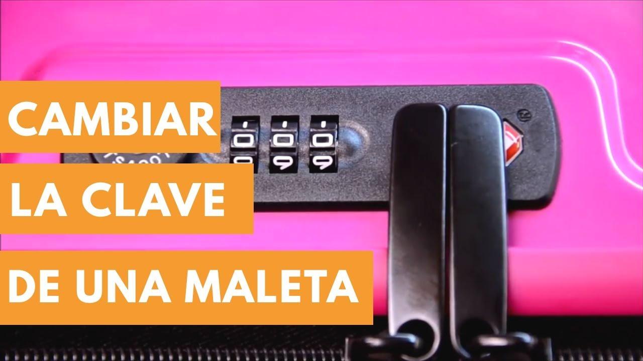 d73c56818 CAMBIAR la CLAVE de MALETA   BOLSOS PALACIO - YouTube