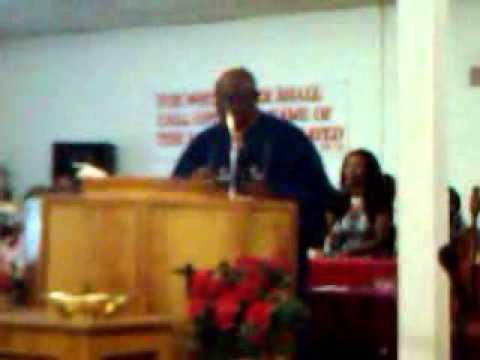 Bishop James T Farrow preaching