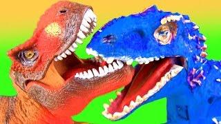 JURASSIC WORLD Dinosaurs Fight ANKYLOSAURUS vs INDOMINUS REX Battle FUN end MEGALODON SHARK SuperFun