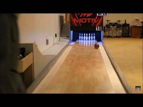 Bowling A Game On The Mini Lane
