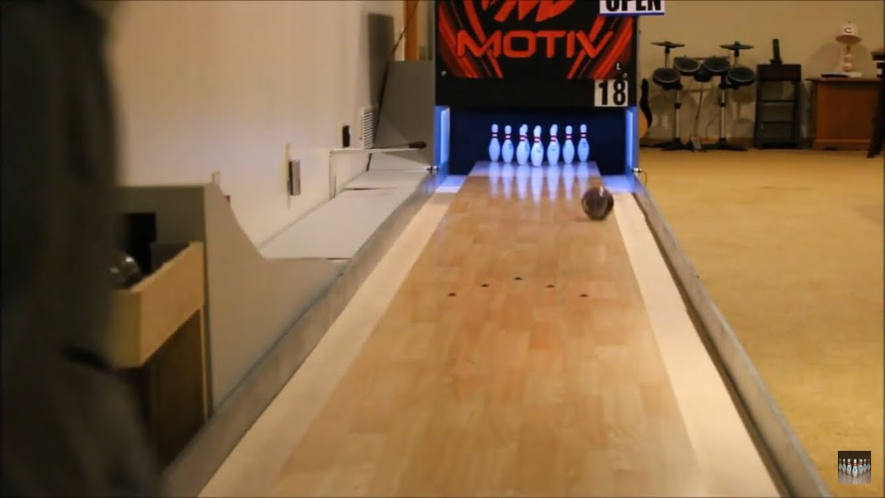 Bowling A Game On The Mini Lane - YouTube