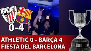 ATHLETIC 0 BARCELONA 4, FINAL COPA REY | CELEBRACIÓN jugadores BARÇA | DIARIO AS