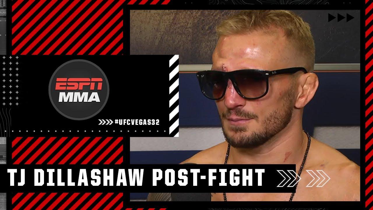 TJ Dillashaw: 'Pace' was deciding factor in win vs. Cory Sandhagen   #UFCVegas32   ESPN MMA