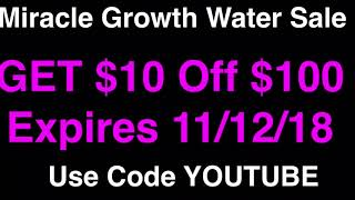 MIRACLE GROWTH WATER™️ VETERANS DAY DEAL