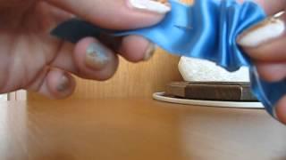 как сделать рюши из атласной ленты