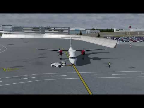 Bombardier Dash 8-Q400 Ottawa (CYOW) to Thunder Bay (CYQT) P3D v4.1