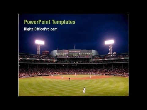 Baseball PowerPoint Template Backgrounds - DigitalOfficePro #05988