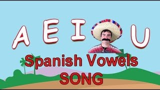 spanish vowels sing along song to the tune of b i n g o