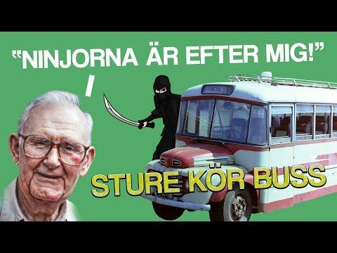 'NINJORNA ÄR EFTER MIG!'   Sture kör buss (Bus Simulator 16)