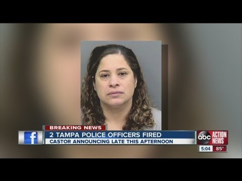 Tampa Police Chief Jane Castor fires two officers, one arrested