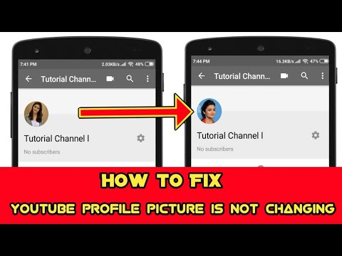 How To Fix Youtube Profile Picture Is Not Changing Problem Android And Ios 2019