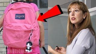 Profesora escuchó raros gemidos de la mochila de su alumna, al abrirla se llevó una gran sorpresa.