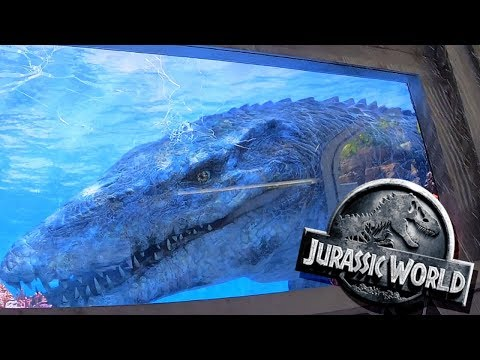 Jurassic World The Ride - Full Front Seat POV - Universal Studios Hollywood Theme Park - 2019